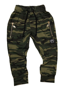 Drop Crotch Camo Pants with Gold Zips - Only Size 6 Left. - Babahlu Kids Streetwear
