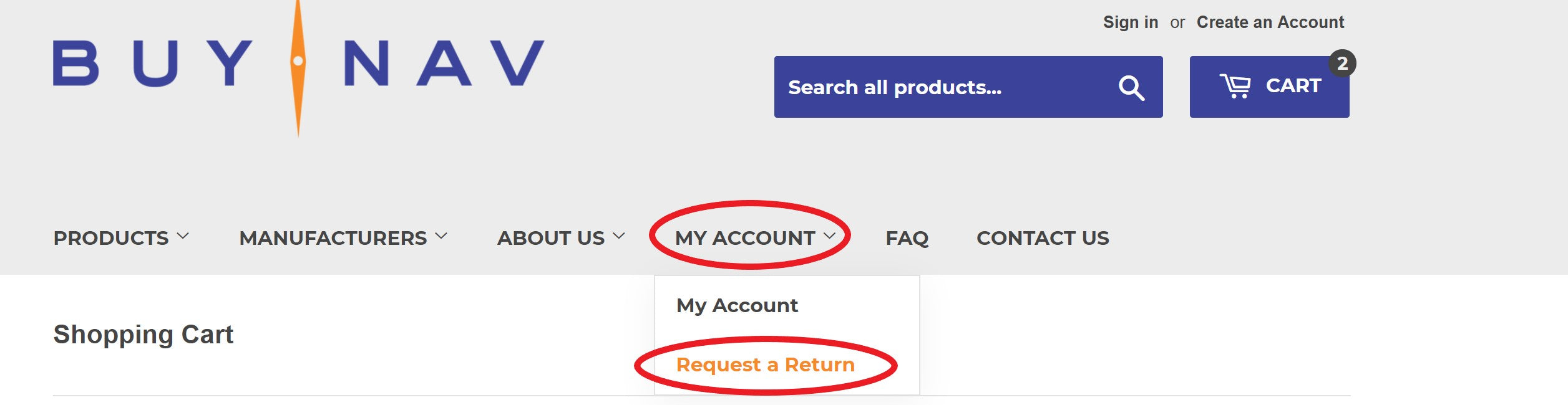 Request a Return