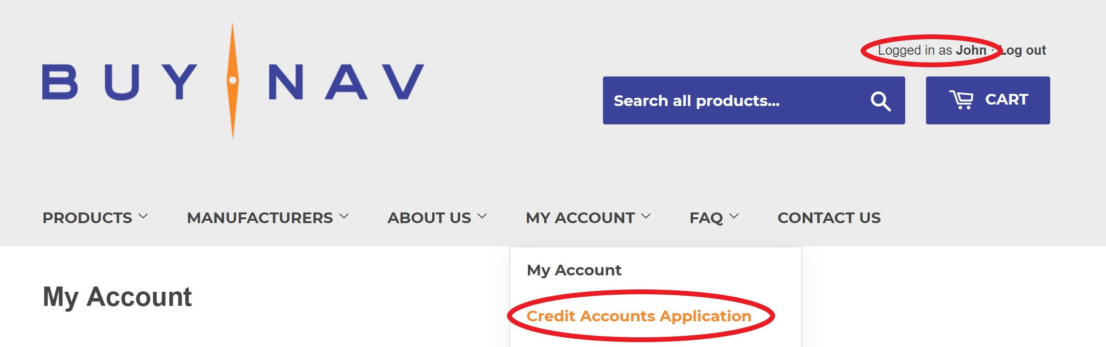 credit accounts application