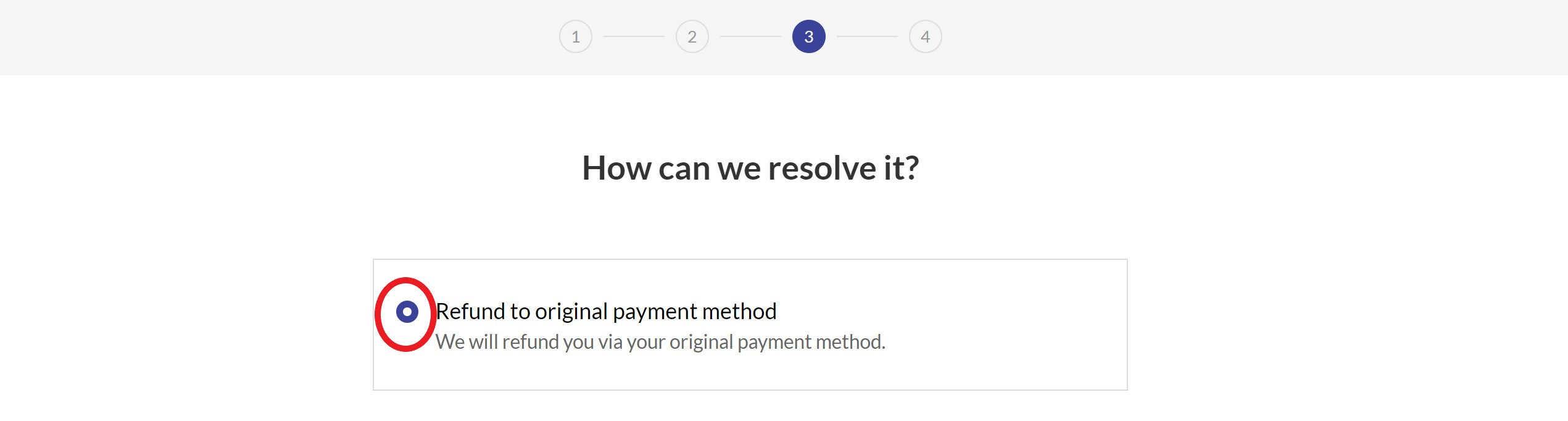 refund method