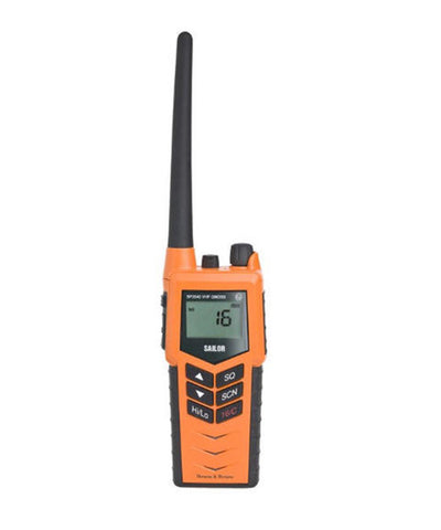 Photo of Cobham SAILOR SP3540 VHF GMDSS ATEX IIC Portable Radio with Emergency Battery and Rechargeable Battery Pack