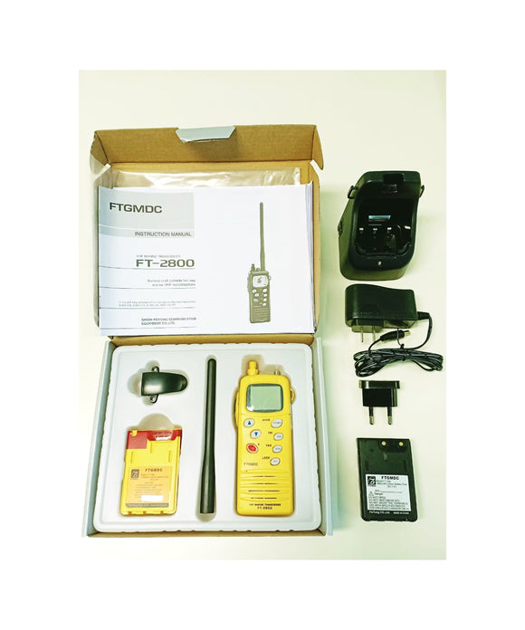 Photo of Feitong FT-2800 GMDSS Radio Set With Emergency Lithium Battery, Rechargeable Battery & Charger