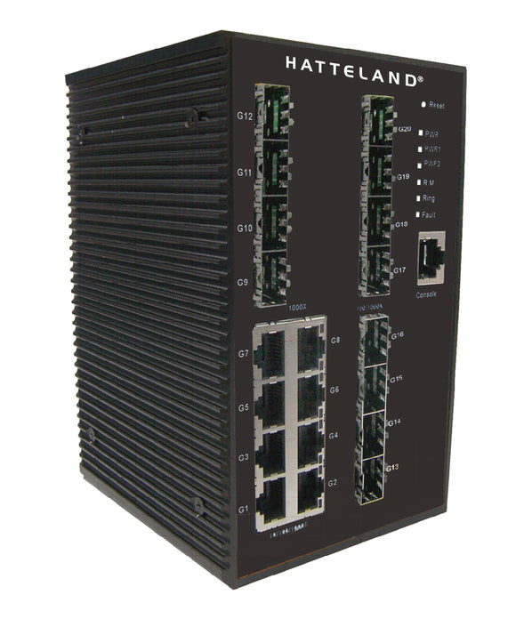 Photo of Hatteland 20-Port Managed Gigabit Industrial Switch