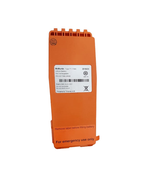 Photo of McMurdo Replacement Emergency Lithium Battery 20-003-01A / TT-1708A for R5 GMDSS VHF Radio