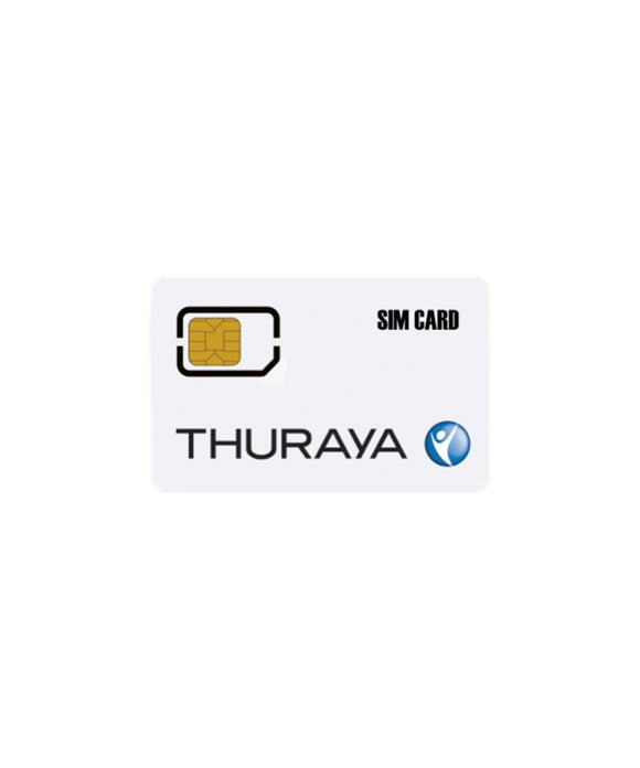 Thuraya Prepaid Marine Voice Fixed (MVF) SIM Card with 100 Units