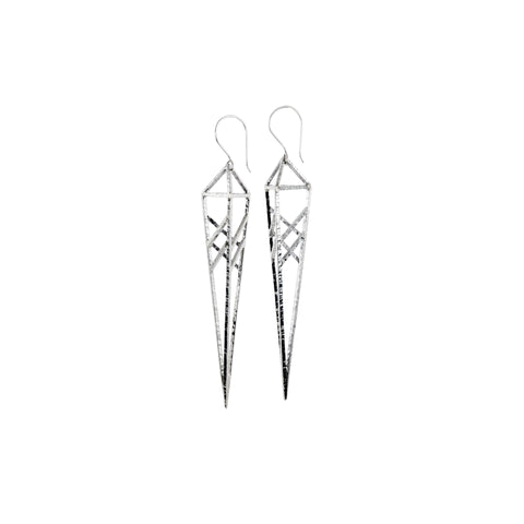 3D Spear Earrings