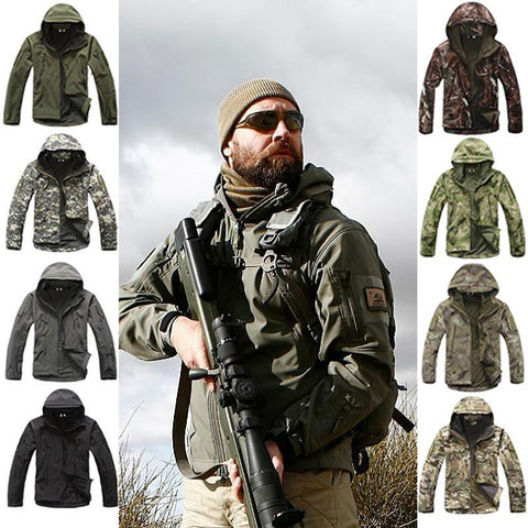 Shark Skin Soft Shell V4.0 Outdoor Military Tactical Jacket Waterproof Windproof