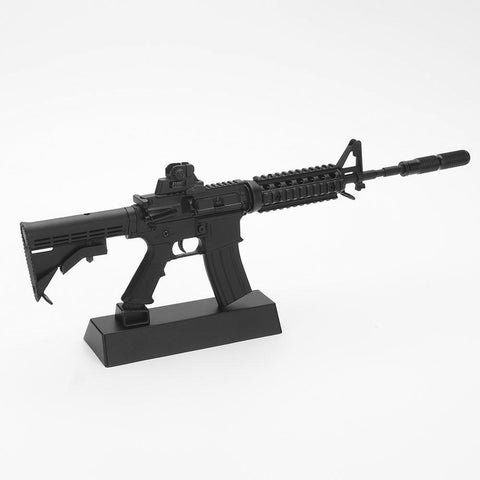 TOY GUN METAL SCALE MODEL BLACK AR15