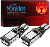 Yorkim 912 921 LED Backup Light Bulbs Red, High Power 2835 21-SMD Chipsets Extremely Bright Error Free T15 906 904 902 W16W for Back Up Lights Reverse Lights, Pack of 2