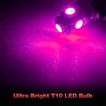 Yorkim 194 Pink/Purple LED bulb 5th, Interior Lights for W5W 168 2825 T10 (5-smd 5050)