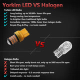 Yorkim 7440 Led Bulb T20 7441 7443 7444 W21W for Backup Reverse, Break, Tail, Turn Signal Light , Pack of 2 (Amber)