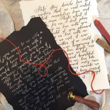 Handwritten letter - On Black Paper
