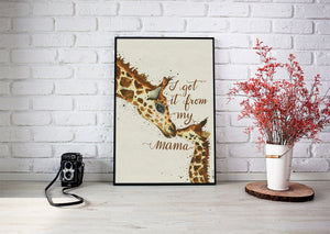 Art Print - I got it from my mama