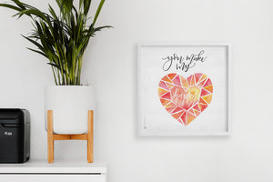 Square framed poster - You make my heart happy