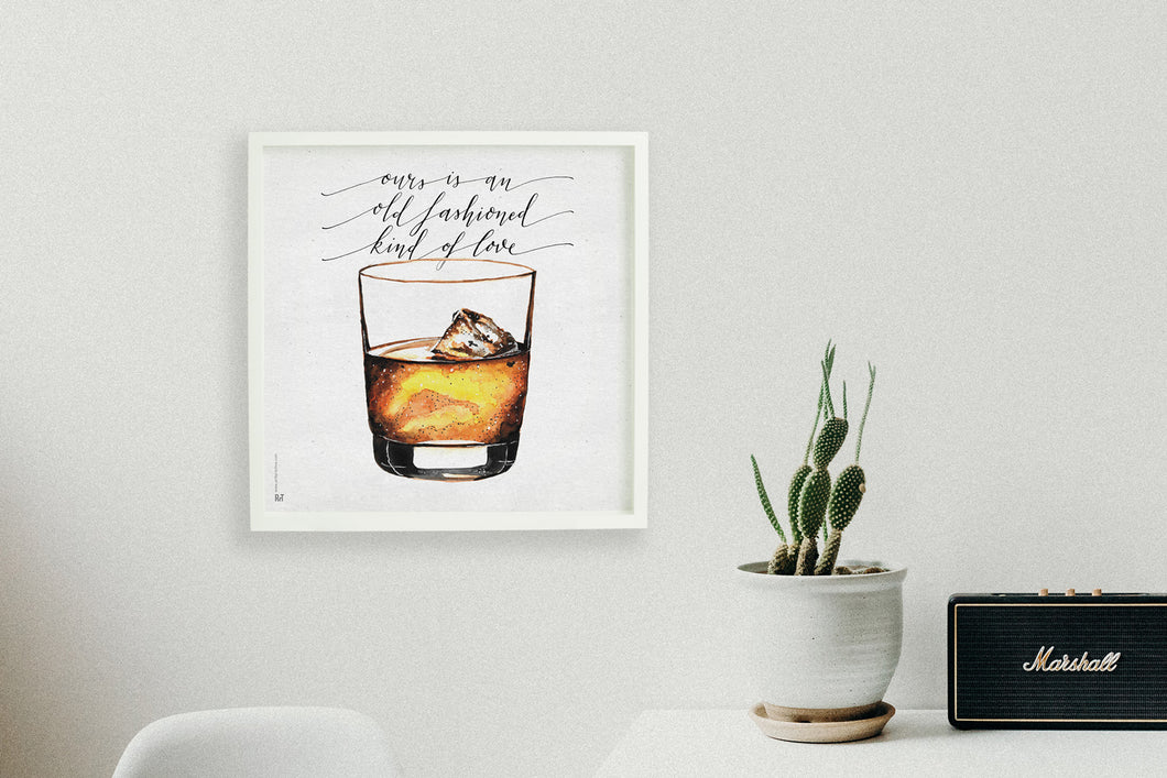 Square framed poster - Whiskey