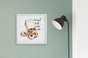 Square framed poster - Donut kill my vibe