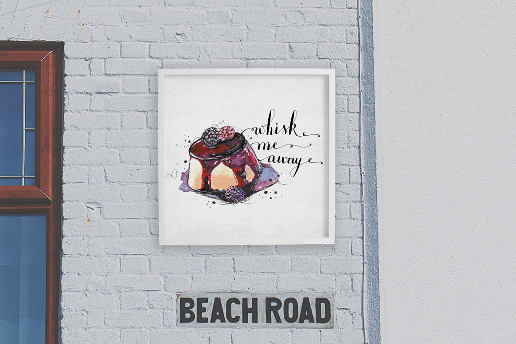 Square framed poster - Whisk me away