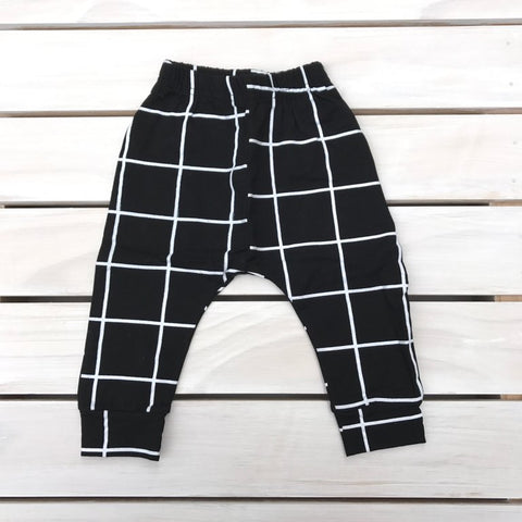 Black Check Pants