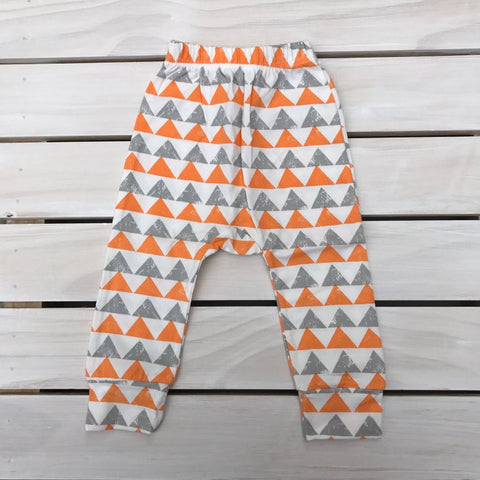 Grey & Orange Geo Pants