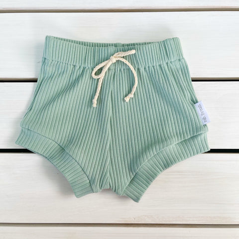 Mint Ribbed Shorties * Pre-order *