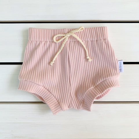 Blush Ribbed Shorties