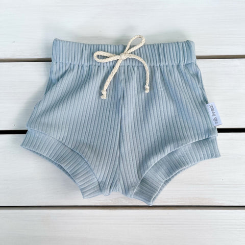 Duck Egg Ribbed Shorties * Pre-order *