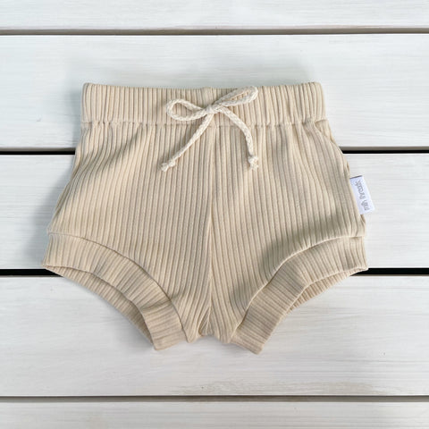 Sand Ribbed Shorties * Pre-order *