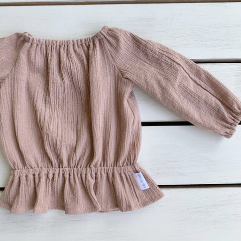Dusty Pink Long Sleeve Top