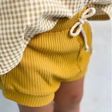 Mustard Ribbed Shorties