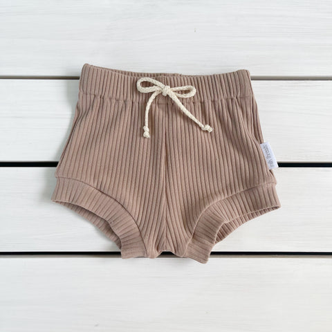 Latte Ribbed Shorties * Pre-order *