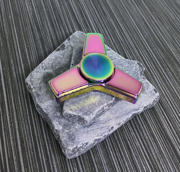Rainbow Brass Tri Zipbi Spinner