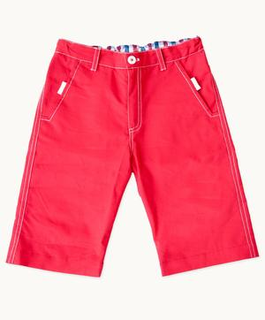 Red Twill Shorts (Sizes 2-6)