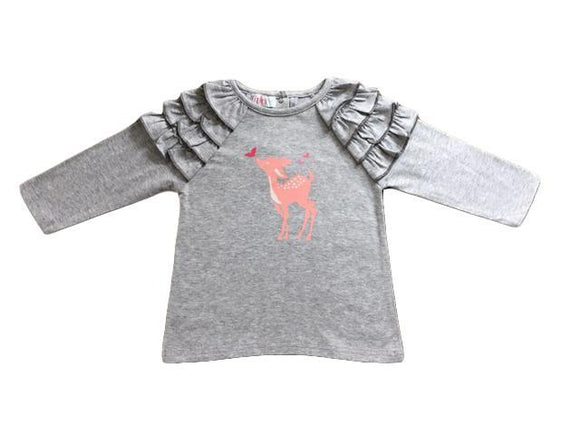 Grey Marl Bambi Long Sleeve Tee