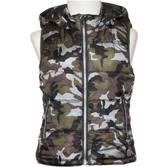 Camo Vest. Candy Stripes. Ethically Made.  Organic Cotton.  My Kids Clothing.