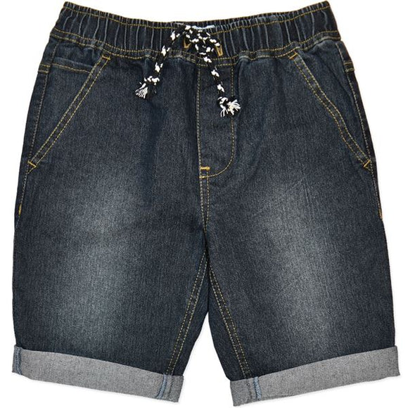Dark Blue Soft Denim Shorts (Sizes 8-16)