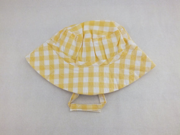 Yellow Gingham Sun Hat - Only 1 Left
