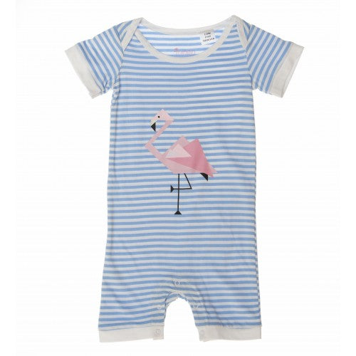 Flamingo Print Romper Playsuit - Only 1 Left