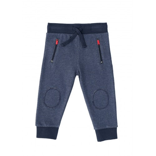 Navy Marl Zip Pocket Joggers - Only 1 Left