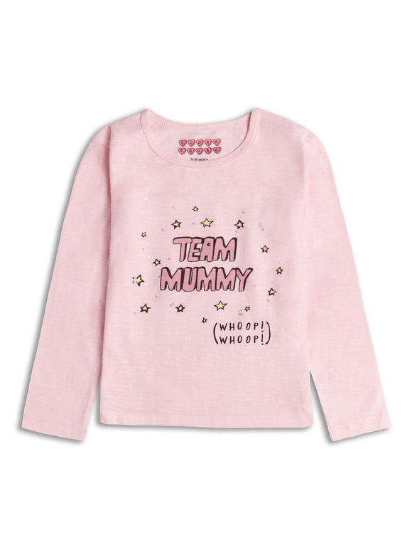 Pink Team Mummy Long Sleeve T-Shirt