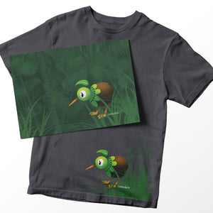 New Arrival - KiwiKiwi Collection Set -Tee and A4 Print - ( Grown Up Sizes)