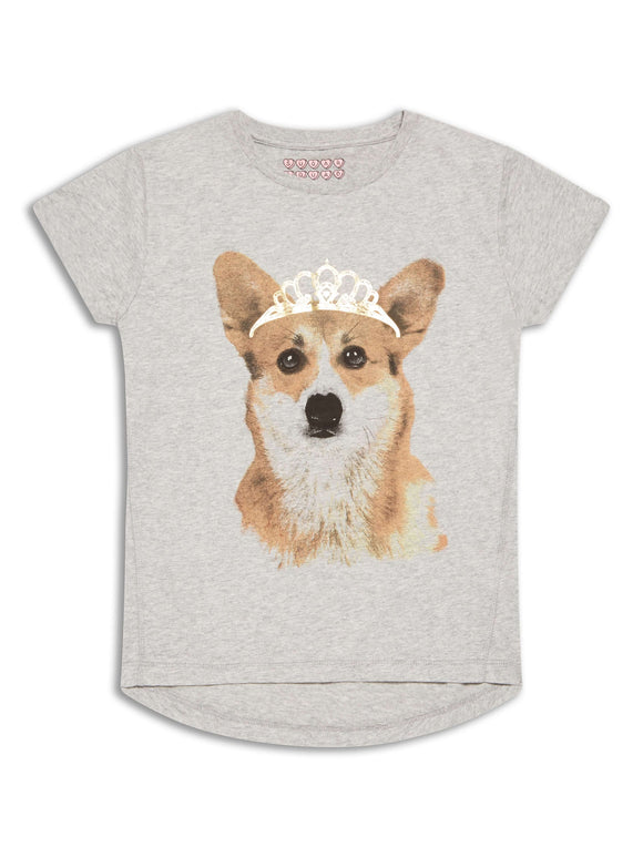 Grey Royal Corgi T-Shirt - Only 1 Left!
