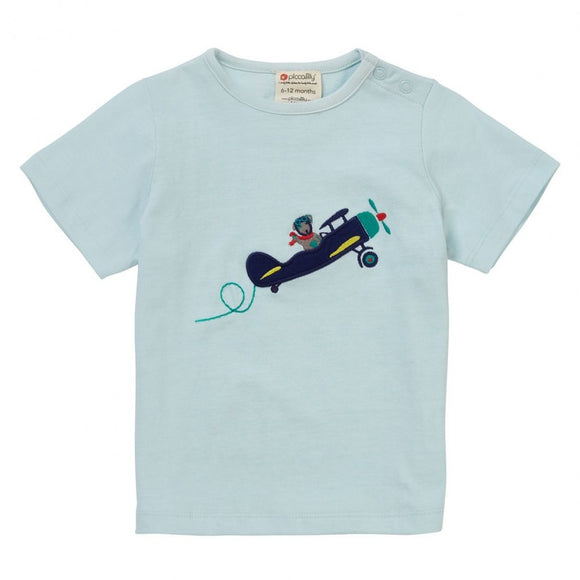 Piccalilly aeroplane tee. Ethically made. Organic cotton. Kids tee. Baby t shirt.