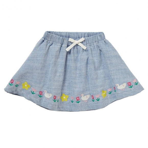 Duck Chambray Skirt