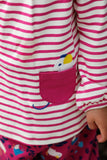 Pink and White Stripe Pocket Mouse Long Sleeve Tee - New Arrival