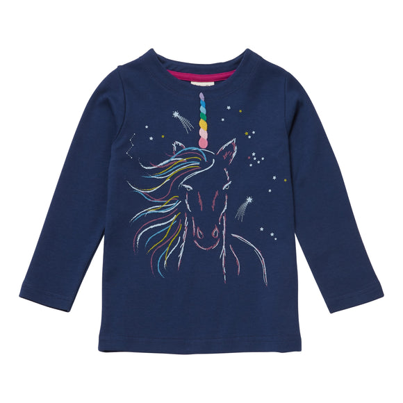 Navy Unicorn Long Sleeve Tee - New Arrival