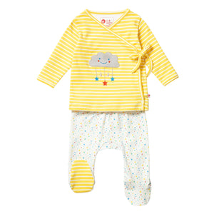 Yellow Stripe Star Baby Set - New Arrival