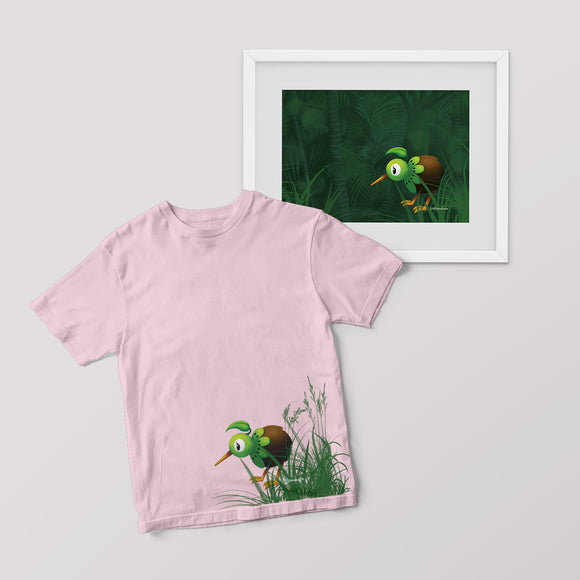 New Arrival - KiwiKiwi Collection Set - Tee and A4 Print (Infant Sizes)