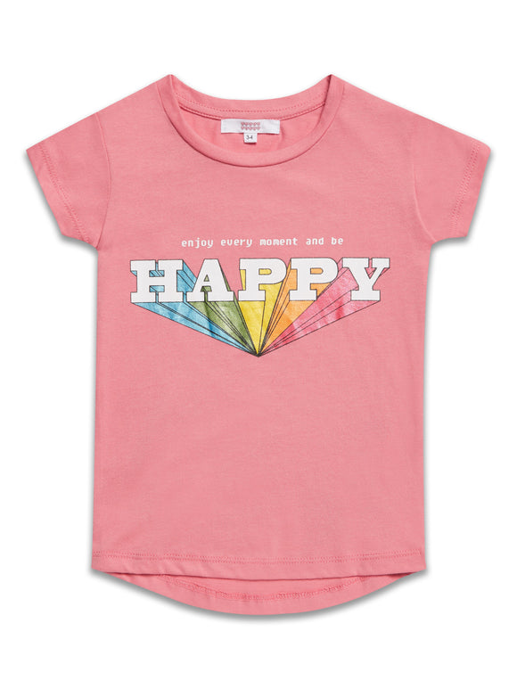 Pink Happy T-Shirt - Only 1 Left!
