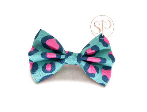Cheetah Spots Bow - Blue