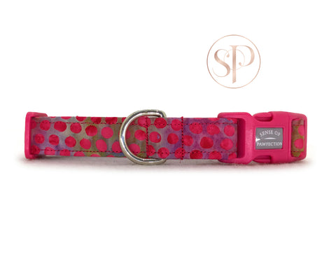Cerise Dots Collar